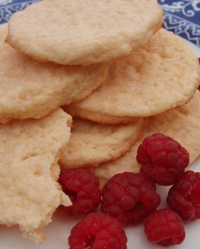 Devon Flats with raspberries