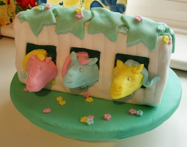 Pony Stable Birthday Cake