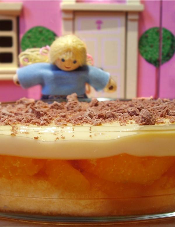 Mum's orange trifle