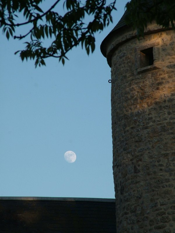 moon over the chateau