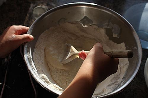 mixing-dough